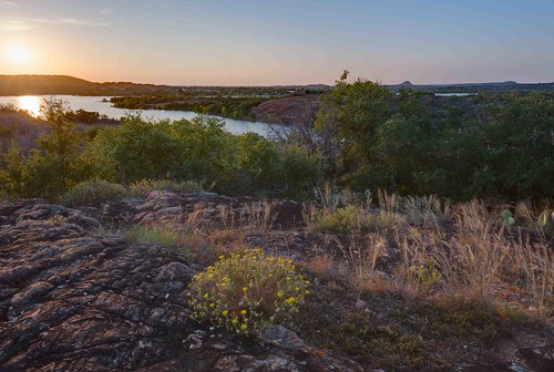 landscape flowers hdr inkslake lake sunset texas