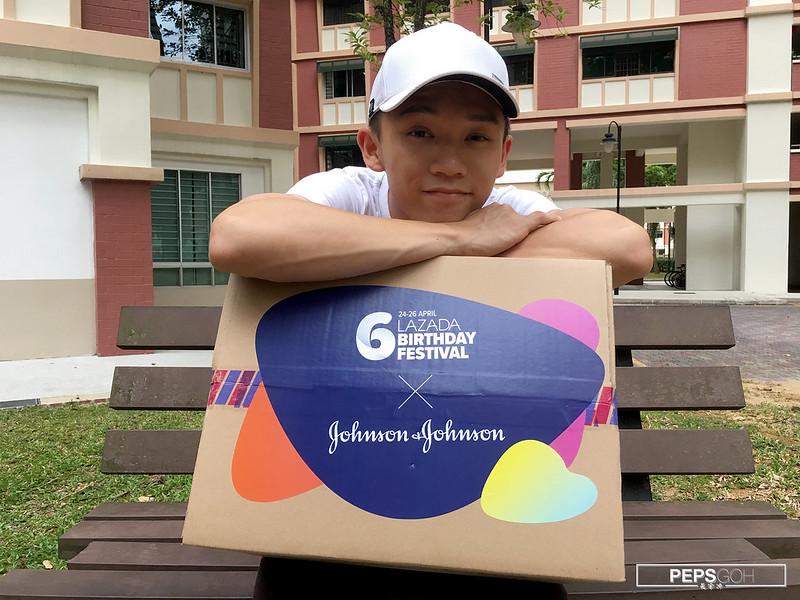 Johnson and Johnson for Him Lazada Surprise Box