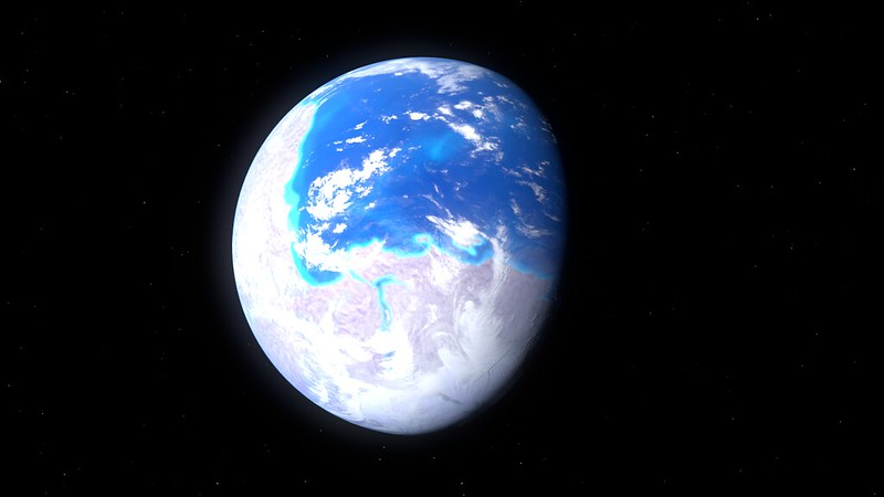 A render of the Earth of the Late Neoproterozoic supercontinent Pannotia