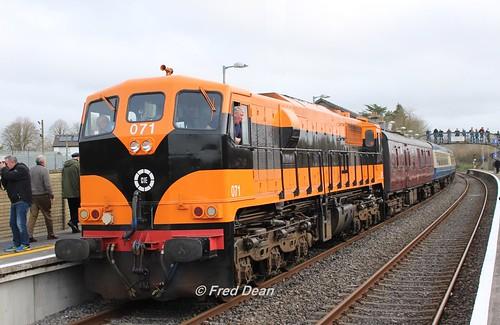 Irish Rail 071 in Muine Bheag.