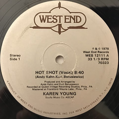 KAREN YOUNG:HOT SHOT(LABEL SIDE-A)