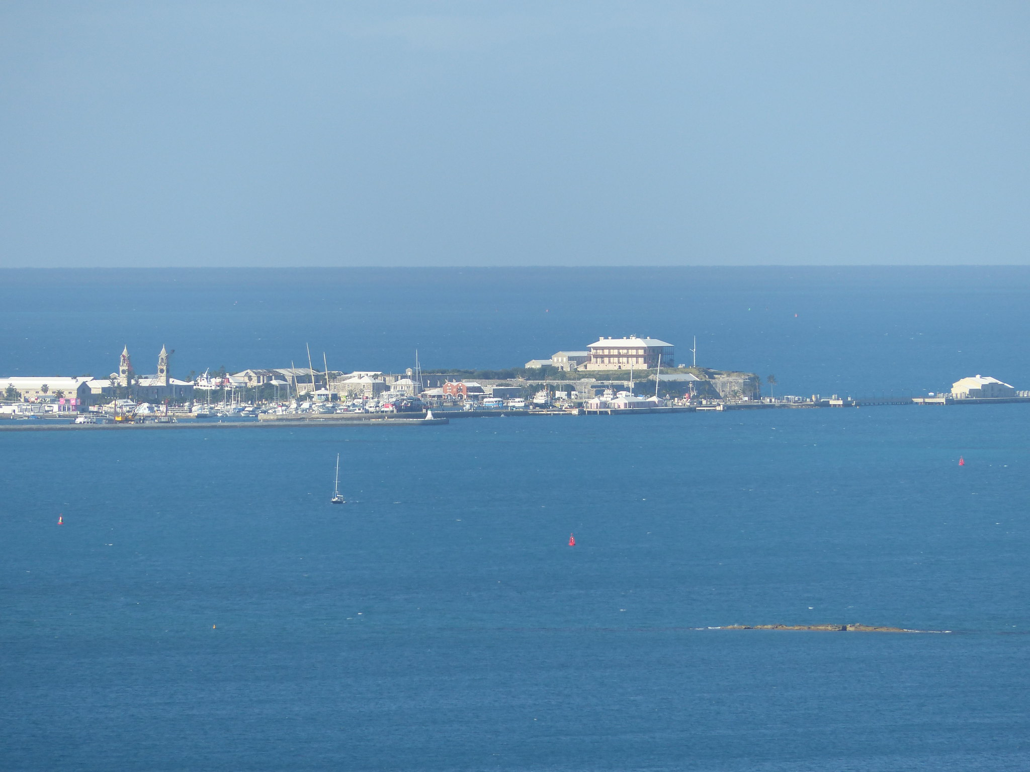 Royal Naval Dockyard from Gibbs Hill Lighthouse
