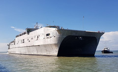 USNS Brunswick (T-EPF 6) arrives in Tawau, Malaysia, April 21. (U.S. Navy/MC2 Joshua Fulton)
