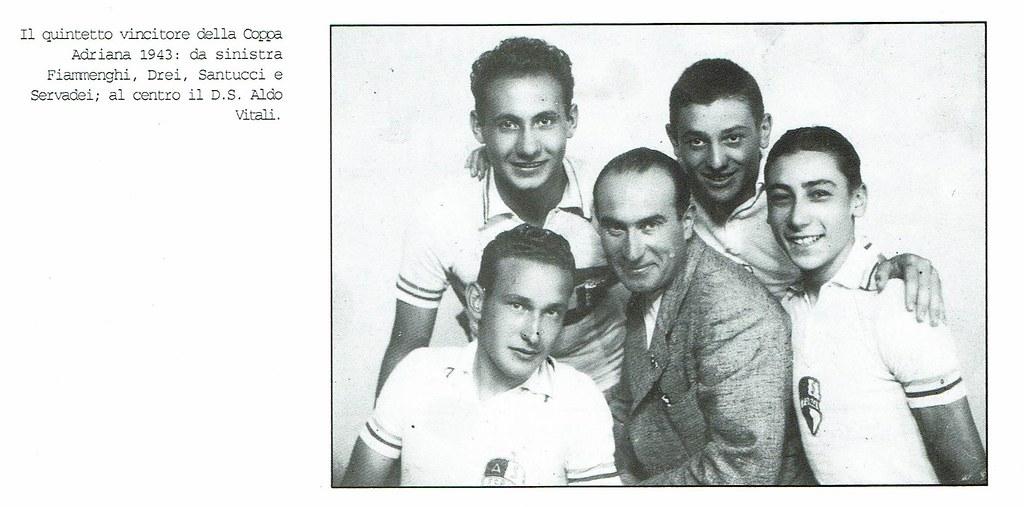 Il quartetto vincitore della Coppa Adriana 1943 (foto inviata dal figlio Marco)