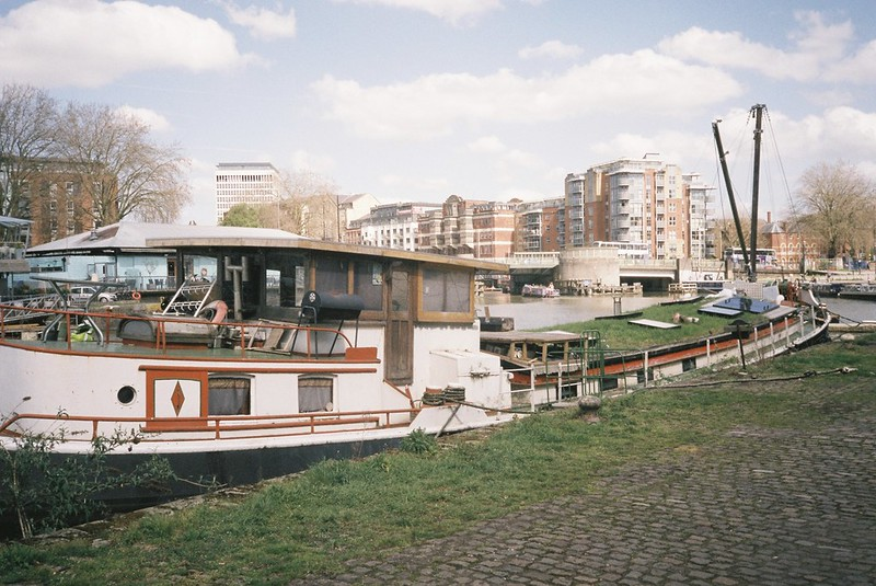 Grass-roofed boat