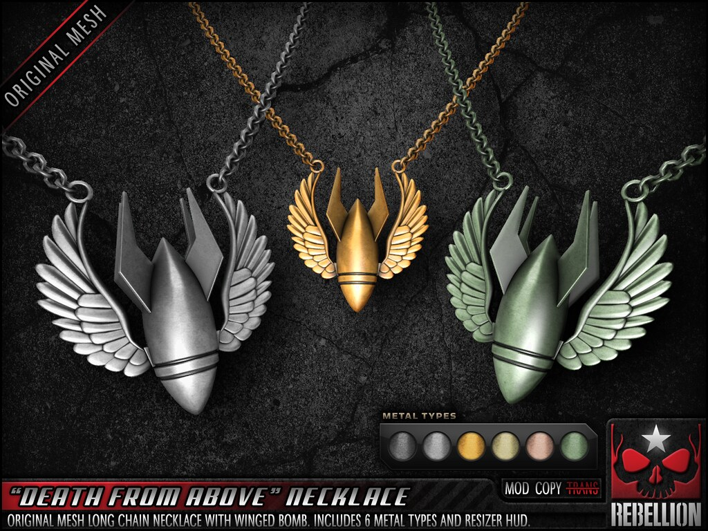 "= REBELLION = ""DEATH FROM ABOVE"" NECKLACE - TeleportHub.com Live!"