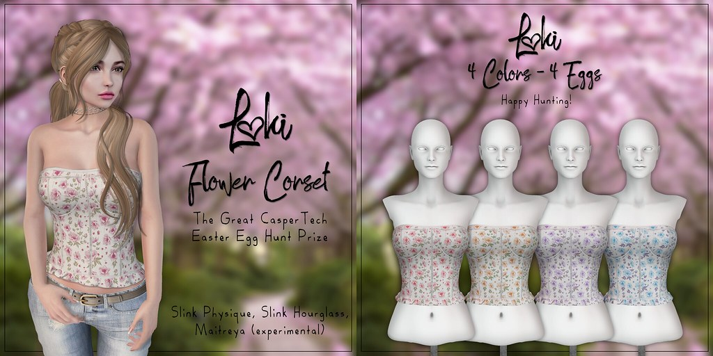 Loki - Flower Corset @ The Great CasperTech Easter Egg Hunt - TeleportHub.com Live!