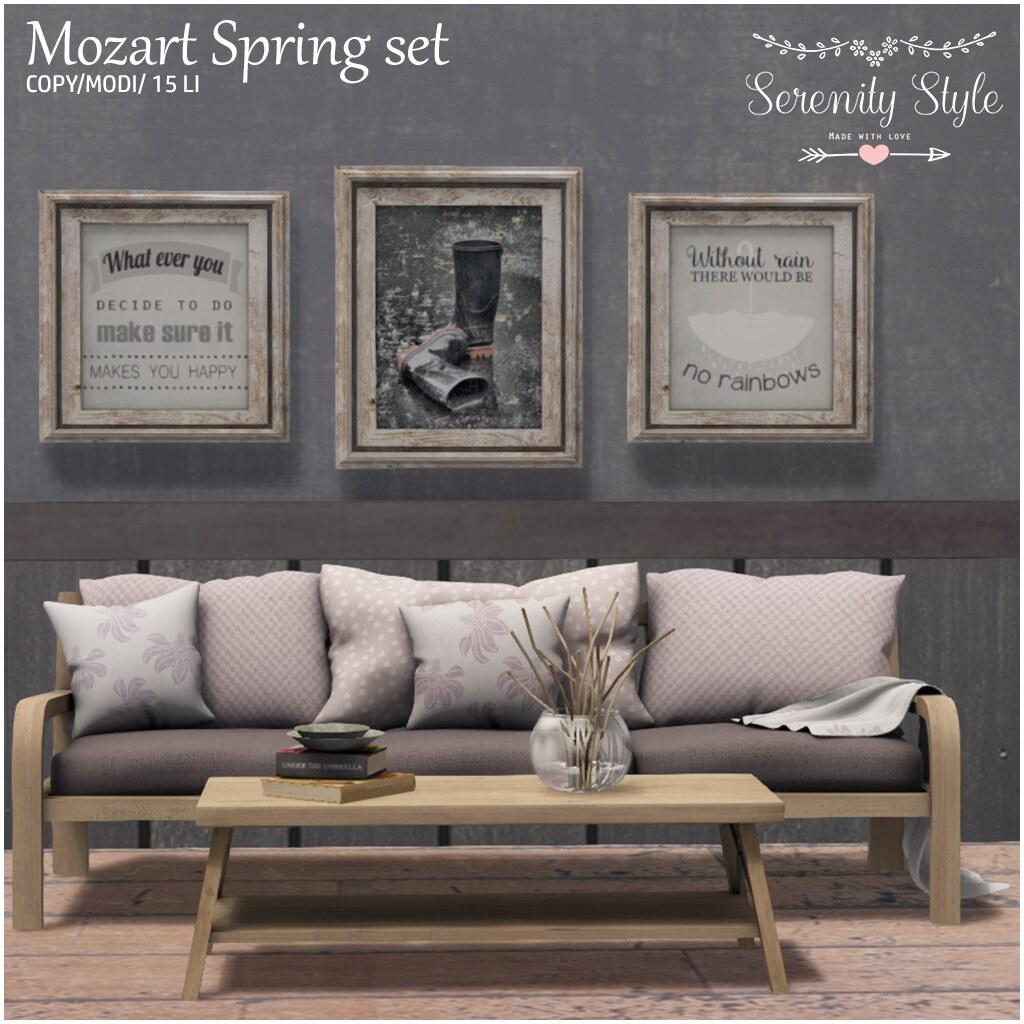 Serenity Style- MozartSpring Set - TeleportHub.com Live!