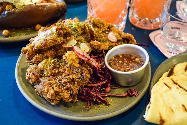 Za'atar Fried Chicken at The Good Egg, Kingly Court #zaatar #friedchicken #goodegg #lunch #london