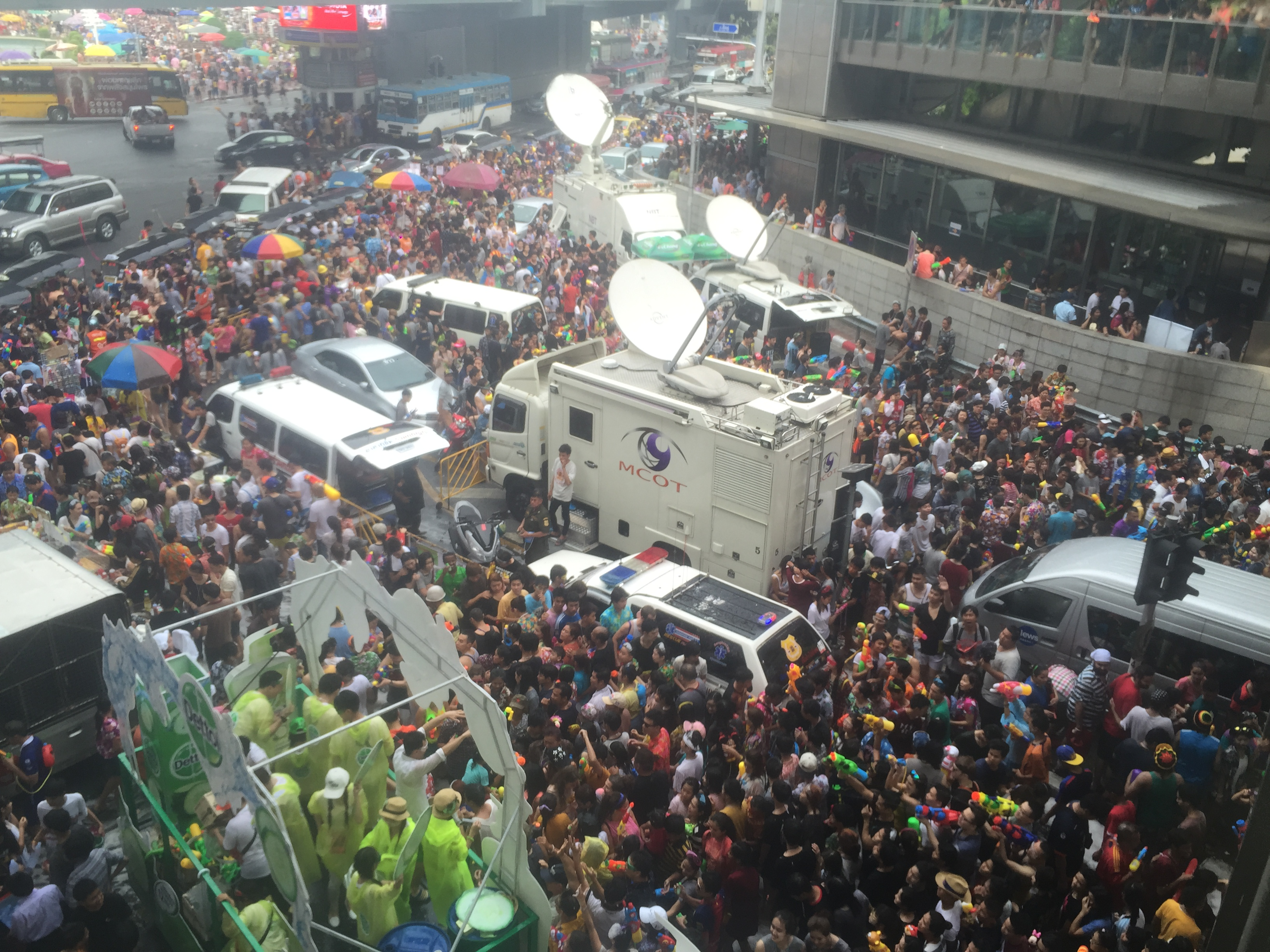 I think the intense media coverage of Songkran in Thailand actually promotes the violence that has become a part of the festival in the past few years. Photo taken on April 13, 2015.