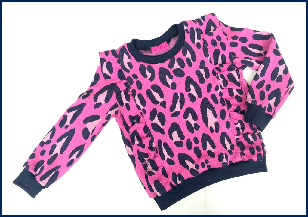 pink leopard Millie sweater
