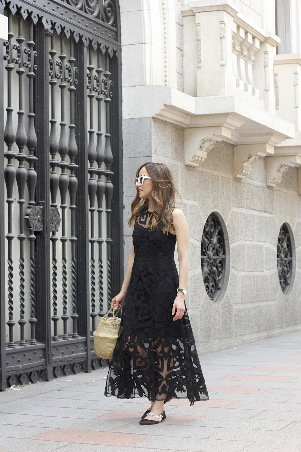 black lace maxi dress summer outfit 2018 02