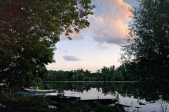 Abend an einem See bei Karlsruhe