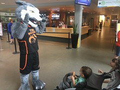 Wolfie meets a fan (June 15,2018)