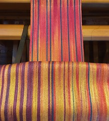 Muga silk band on the loom