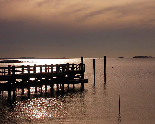 ocean sunset lake silhouette point evening pier dock ct clear mystic lords stonington lordspoint