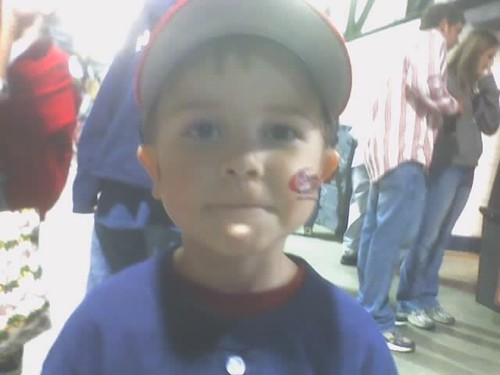 Jesse at the Brave's Game
