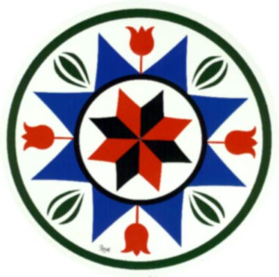 General Good Luck Protection Hex Sign A Traditional