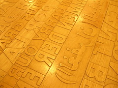 typographical floorboards