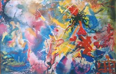 art, painting, psychedelic art, modern art, acrylic paint,