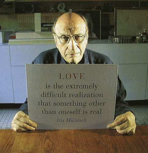 "Milton Glaser,  designer of ""I heart NY"", quotes Iris Murdoch's ""The Sublime And The Good""."