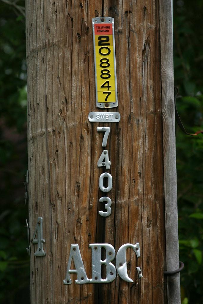 Southwestern Bell Telephone Pole