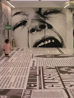 small child @ Barbara Kruger, GOMA, Glasgow International
