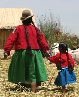 Uros Mother and Child