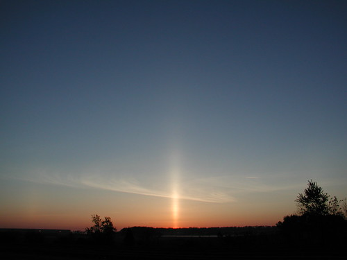 sunrise dawn newjersey may nj parhelion turnpike sundog sunpillar cranbury