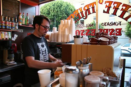 Torrey Nommesen at Caffe Trieste