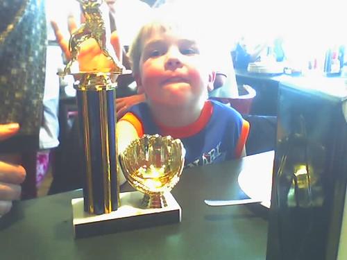 Jesse's teeball trophy