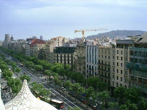 A extensão (Eixample) de Barcelona