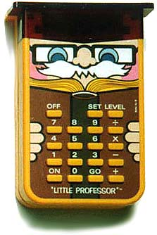 Little Professor Hand-held Calculator