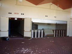 Treasure Island: Abandoned movie theater lobby and snack bar, 2005