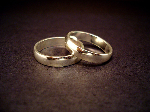 A wedding ring is a symbol of eternity and everlasting love