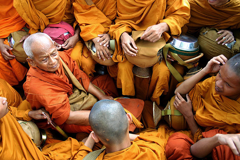 Buddhist Monks - Battambang, Cambodia