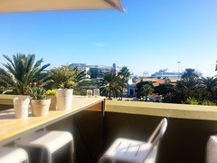 Hotel bed & chic rooftop.  Gran Canaria