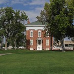 The Utah Territorial Statehouse in Fillmore, Utah, USA, was built between 1852 and 1855. After becoming a territory in 1850, Utah's leaders choose Fillmore as the territory's capital city, and the statehouse was constructed to be the area's first capitol building. Only the south wing of the proposed building was ever built, and it was soon abandoned, as the capital was moved to Salt Lake City. Today the building is operated as a Utah state park known as Territorial Statehouse State Park Museum.  en.wikipedia.org/wiki/Utah_Territorial_Statehouse  en.wikipedia.org/wiki/Wikipedia:Text_of_Creative_Commons_...
