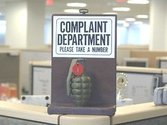 complaint department - please take a number (grenade)