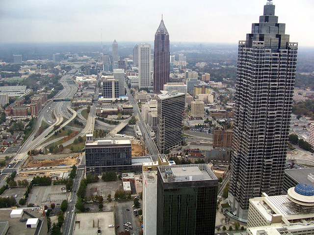 atlanta midtown skyline taken from the sundial atop the we flickr. Black Bedroom Furniture Sets. Home Design Ideas