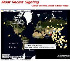 Santa Claus Sightings Map