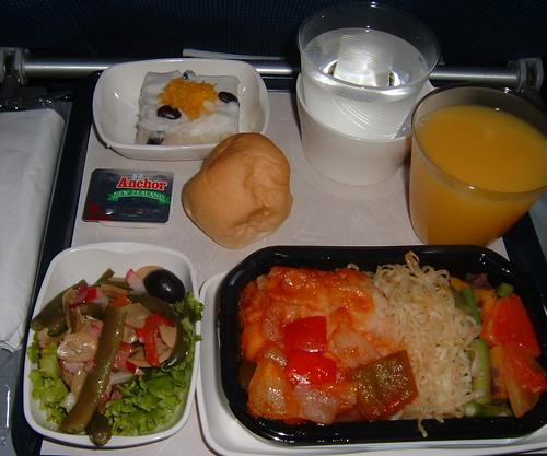 KLM Economy Class Dinner