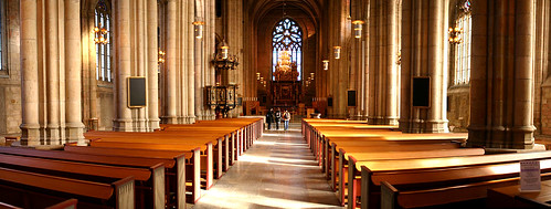 autostitch panorama church architecture view cathedral interior photoshopped experiment skara skaradomkyrka