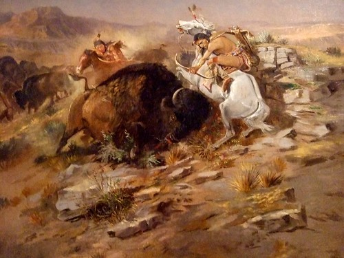 Indian Buffalo Hunt by Charles M. Russell 1896 American Oil