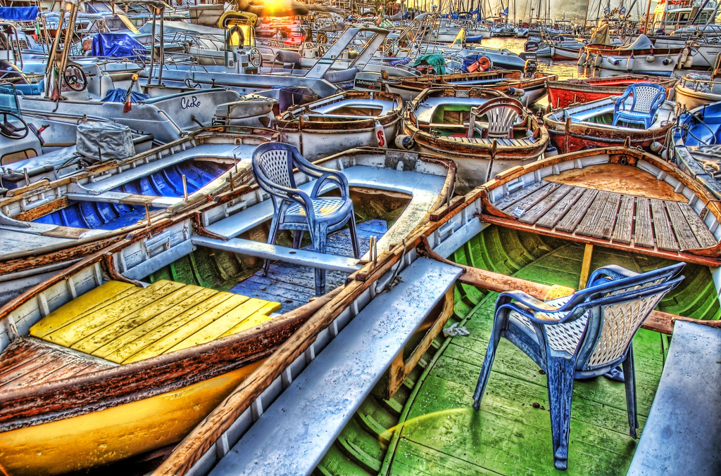 Chairs in Boats by Stuck in Customs