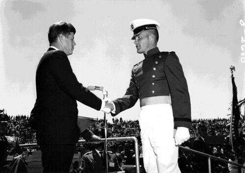 President Kennedy and Thomas A. Fryer