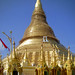 bamboo scaffolding around shwedagon -- burnishing the gold plates