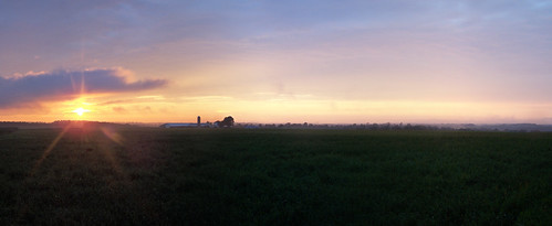 sunset sky sun nature barn rural farm country
