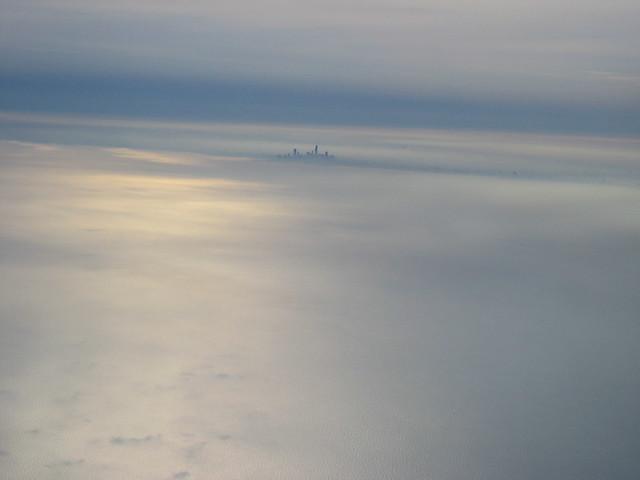 Approaching Chicago landing in the fog