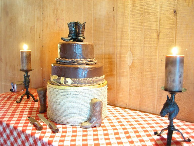 Cowboy Wedding Cake Here I 39m experimenting with long exposure